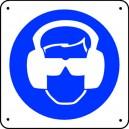 Protection anti-bruit et Lunettes obligatoires