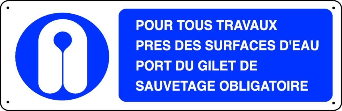 Panneau Pour Tous Travaux près des Surfaces d'Eau Port du Gilet...