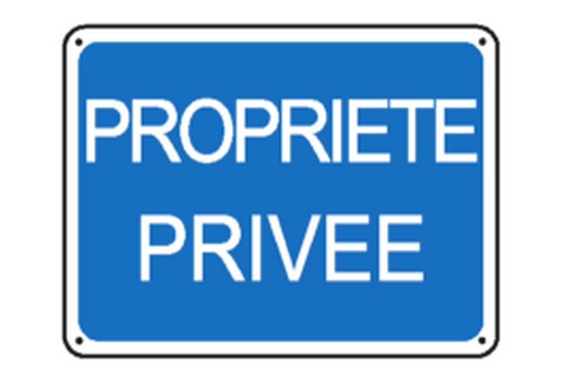 Panneau Propriété privée renforcé pour poteau