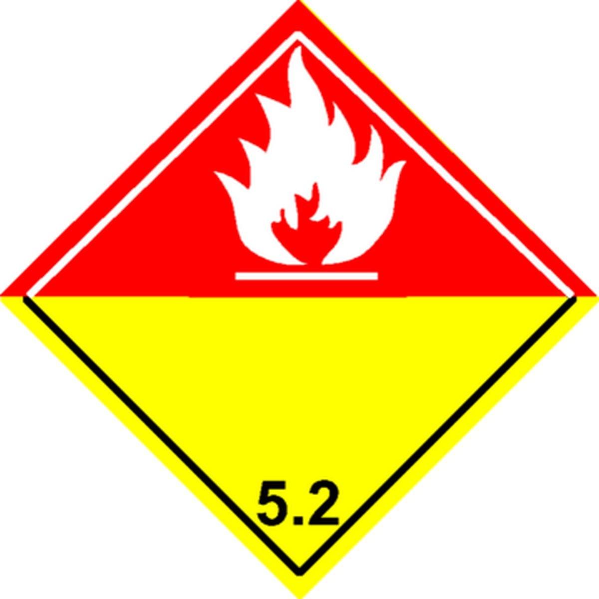 Etiquette Peroxyde Organique Classe 5.2
