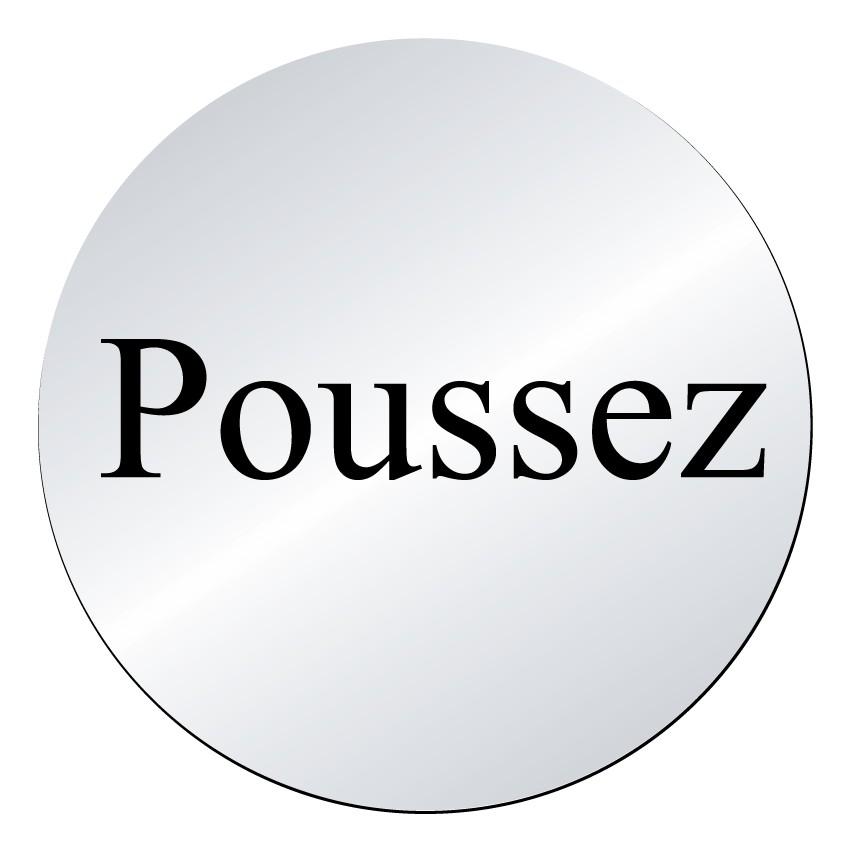 Plaque Poussez (lnox)