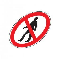 Signalisation sol : Piéton interdit