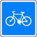 Panneau Piste cyclable conseillée Classe 2