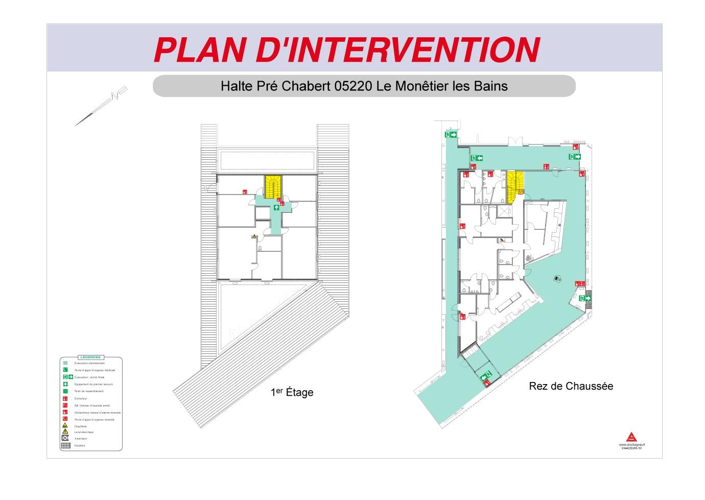 Plan d'intervention avec cadre