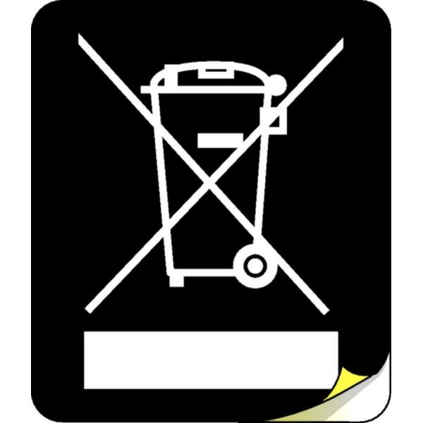 etiquette poubelle picto deee stocksignes. Black Bedroom Furniture Sets. Home Design Ideas