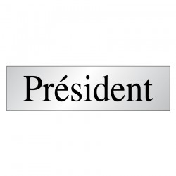 Panneau Président (Inox)