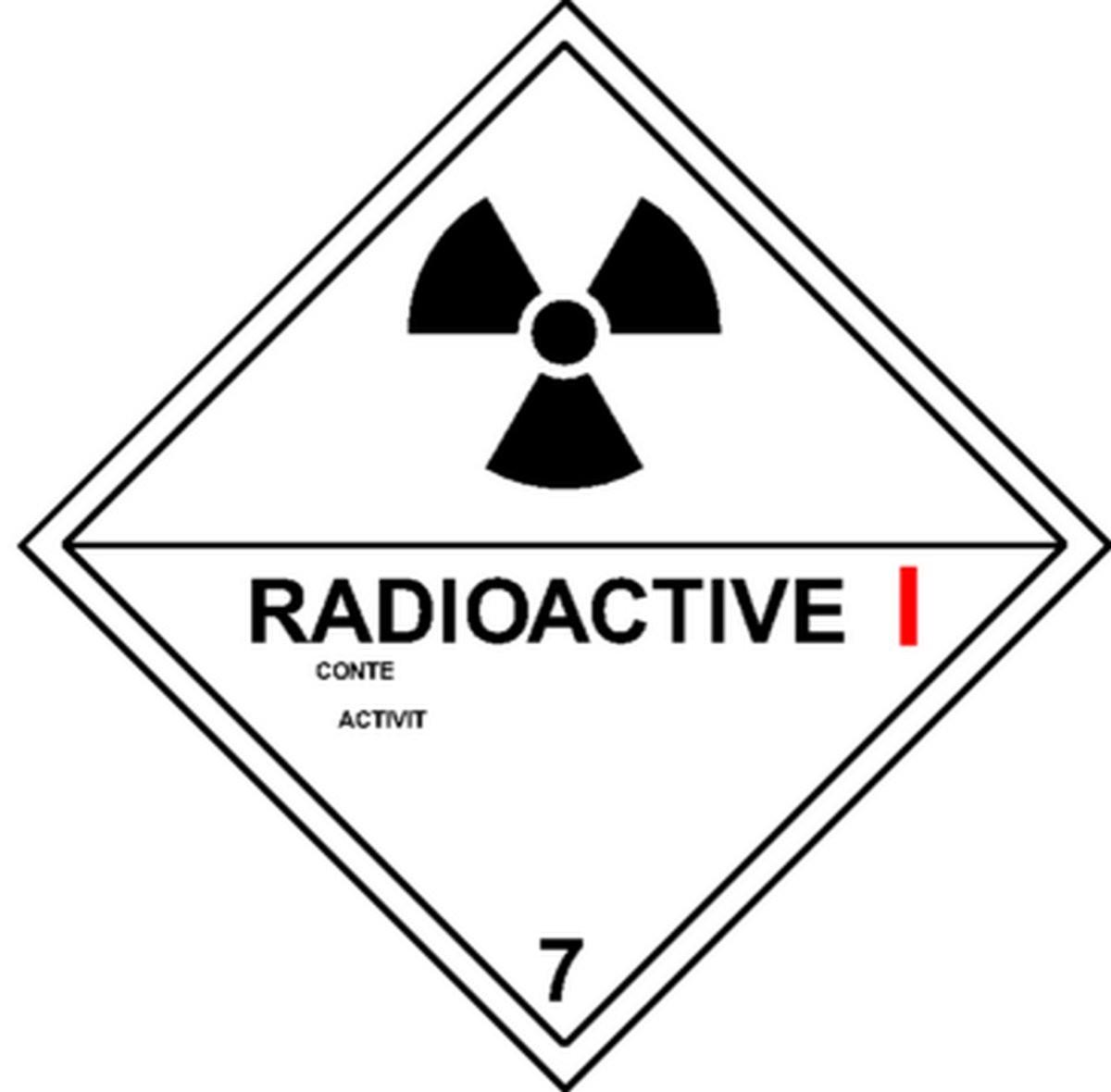Etiquette Radioactive I Classe 7A