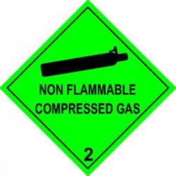 Etiquette Non flammable compressed Gas Classe 2 en anglais
