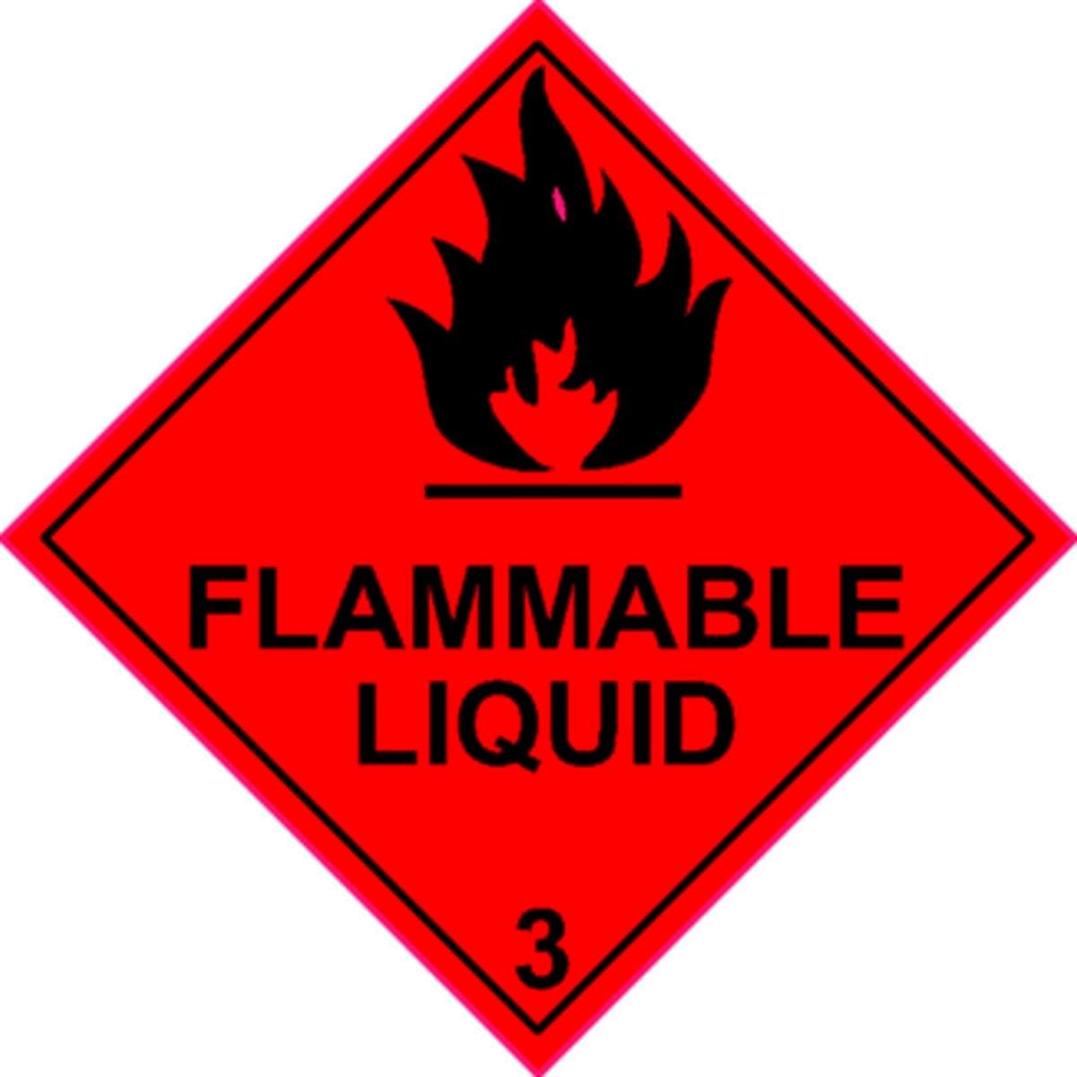 Etiquette Flammable Liquid Classe 3 en anglais