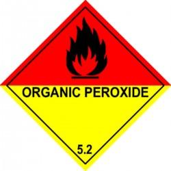 Etiquette Organic peroxyde Classe 5.2 en anglais