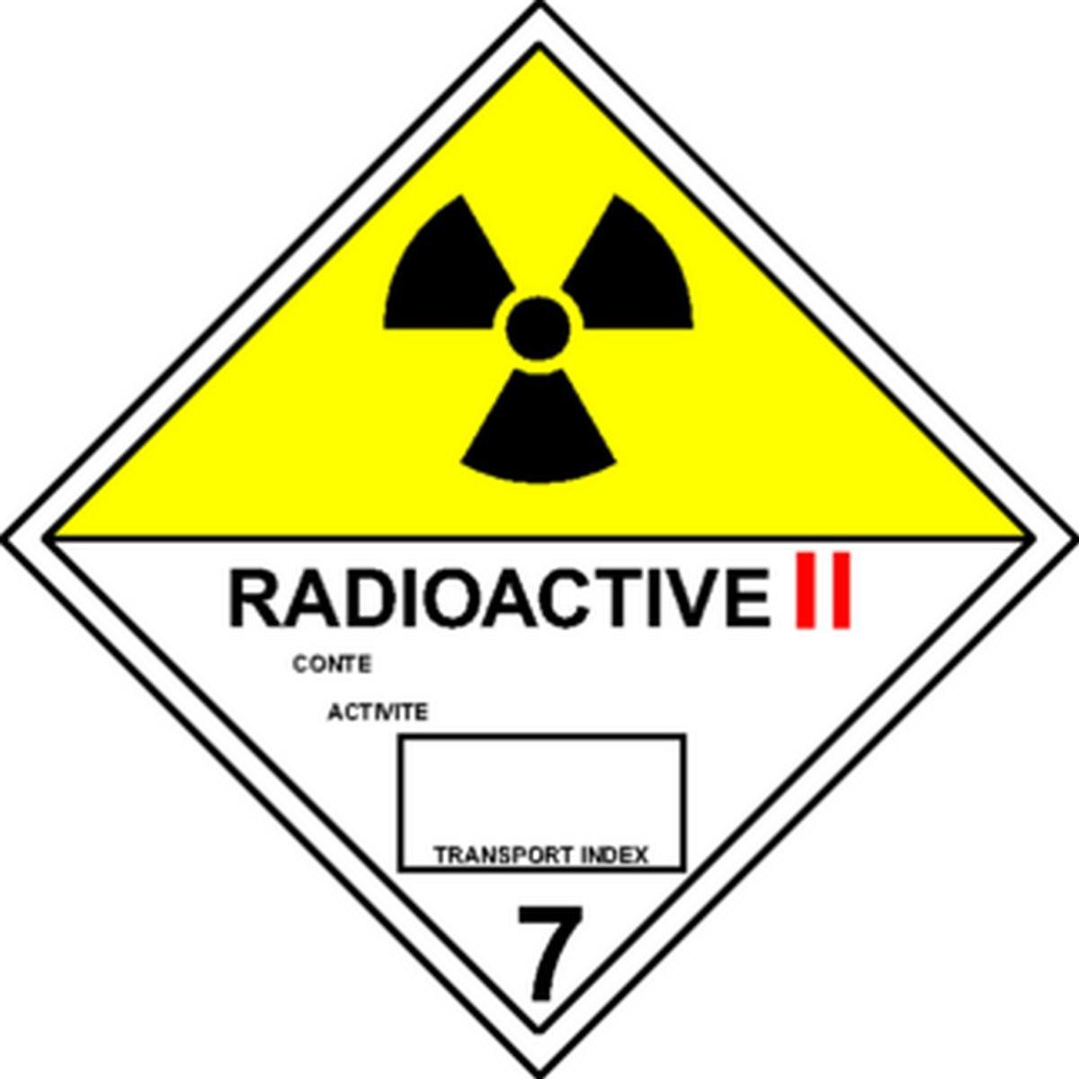 Etiquette Radioactive II en anglais