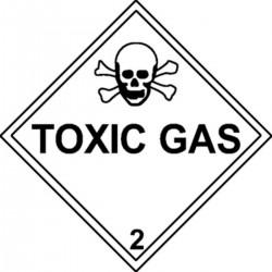 Etiquette Toxic Gas Classe 2 en anglais
