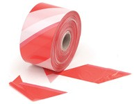Rubalise Rouge/Blanc ECO 500mx75 mm