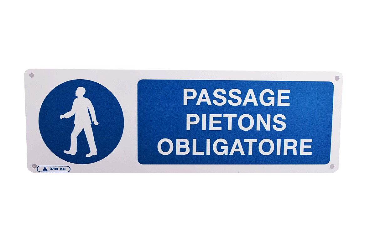Panneau Passage Piétons Obligatoire
