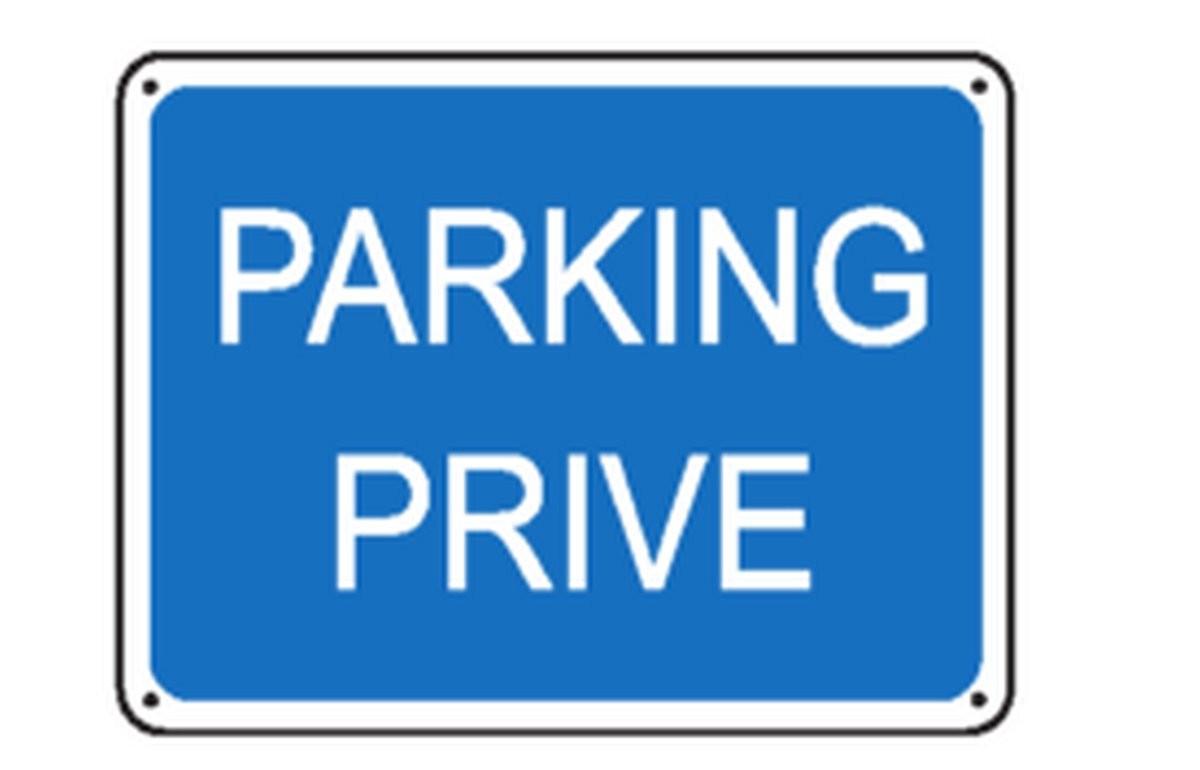 Panneau Parking privé Renforcé
