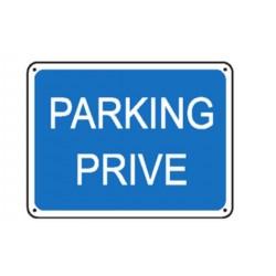 panneau parking priv stocksignes. Black Bedroom Furniture Sets. Home Design Ideas