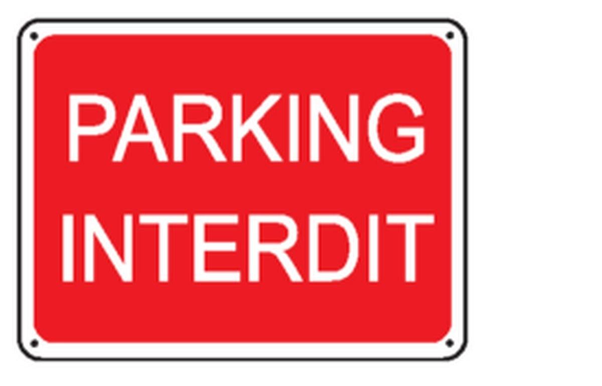 Panneau Parking Interdit Renforcé