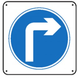 Pictogramme Obligation de tourner à droite