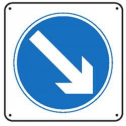 Panneau Obligation de prendre la voie de droite renforcé