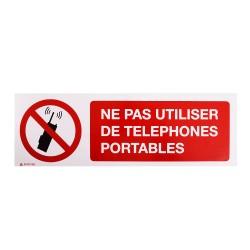 Panneau Ne pas utiliser de téléphones portables