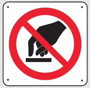 Panneau Ne pas toucher Picto