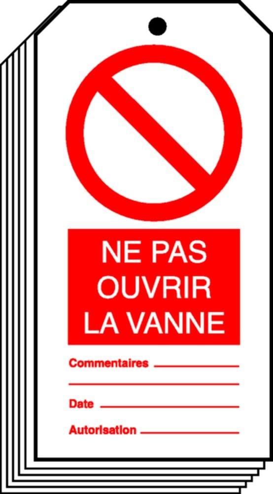Etiquette Ne Pas Ouvrir La Vanne