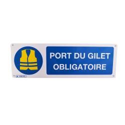 Panneau Port du gilet obligatoire