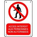 Pictogramme Accès interdit aux personnes non autorisées