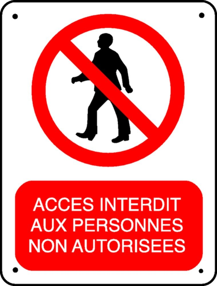 Un panneau d'interdiction d'accès