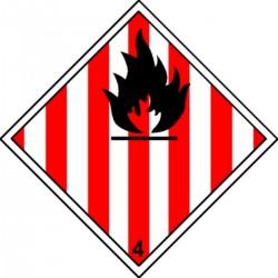 Panneau Solides Inflammables Classe 4.1