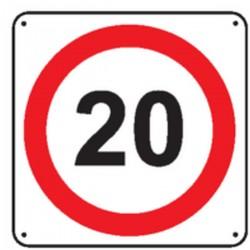 Panneau 20 Km/h Renforcé pour poteau