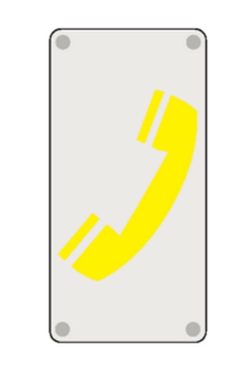 Plaque Téléphone Picto