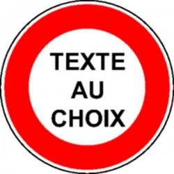 Panneau Texte au choix Classe 2