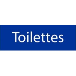 Plaque Toilettes