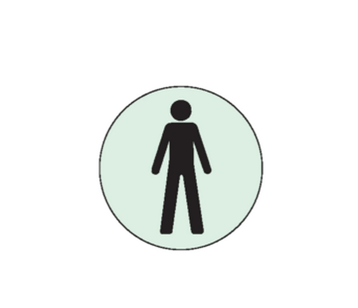 Plaque Toilettes Hommes Picto