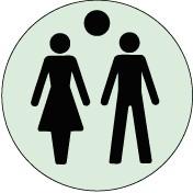 Plaque Toilettes mixtes Picto