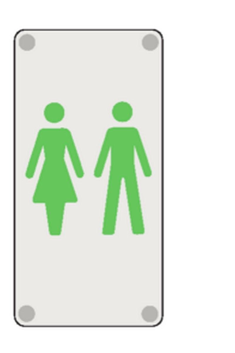 Plaque Toilettes Mixte Picto