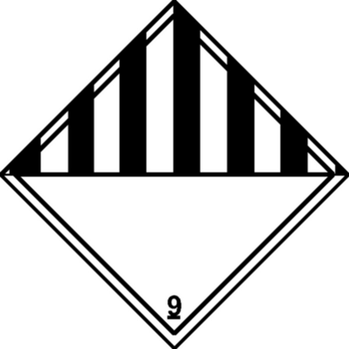Panneau Matières et objets dangereux divers Classe 9