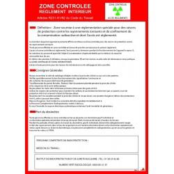 Consigne Radiologie Zone Contrôlée avec cadre