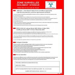 Consigne Radiologie Zone Surveillée avec cadre