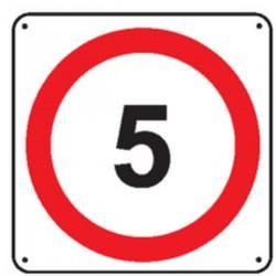Panneau 5 Km/h ( Renforcé )