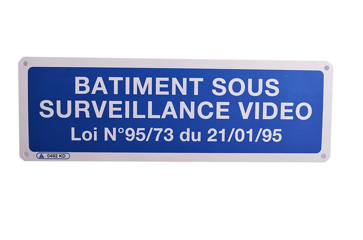 Panneau Bâtiment sous Surveillance Vidéo