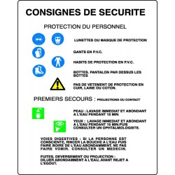Panneau Consignes de sécurité - Stocksignes 5848646ecf00