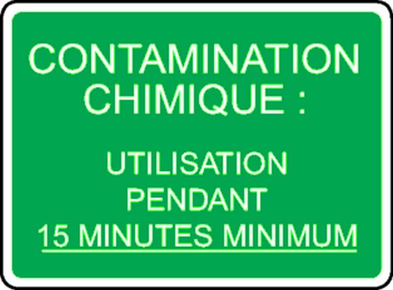 Panneau Contamination Chimique