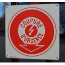 Pictogramme Coupure d'Urgence Electricité