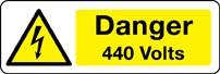 Panneau Danger 440 Volts