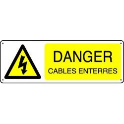 Panneau Danger câbles enterrés