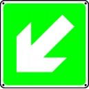Panneau Flèche de Direction Angle Secours Picto