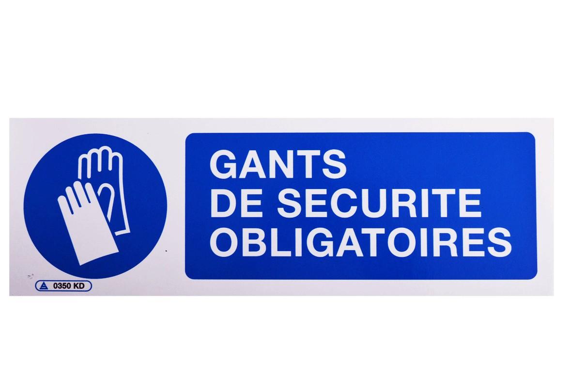 Pictogramme Gants de Sécurité Obligatoires