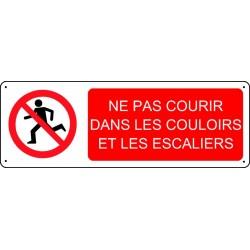Panneau Ne pas courir dans les couloirs et les escaliers